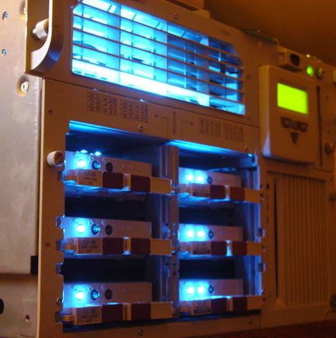 Proliant with blue LEDs