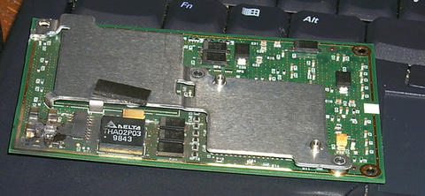 another view, burned mmc 1 300mhz cpu chip