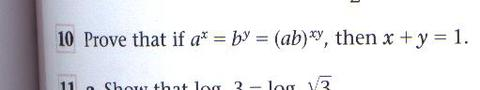 Maths log problem