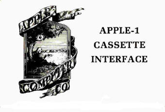 Apple I Cassette Interface manual cover