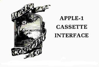 Apple I Cassette Interface manual cover