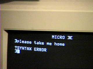 Micro ][ - screen