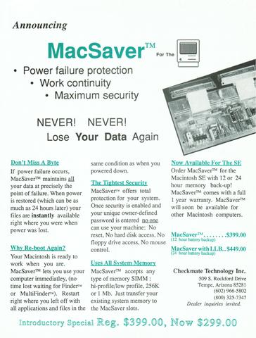 MacSaver Brochure