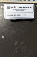 Apple II rev 0 serial number close up